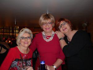 Mit Doris (li.), Loretta (re.) und Brille (mitten im Gesicht) beim Transtalk